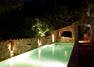 The Pool At La Parare At Night 600x399 1